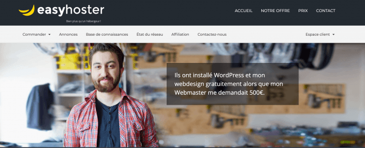 EasyHoster, hébergement web premium WordPress