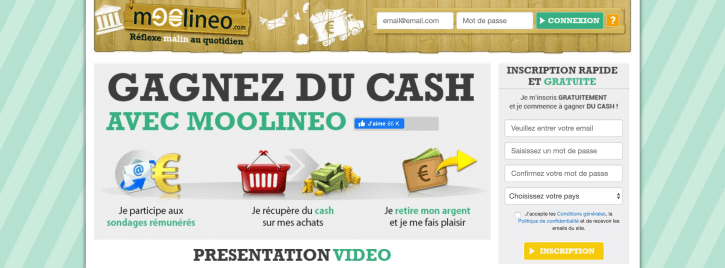Page d'accueil Moolineo