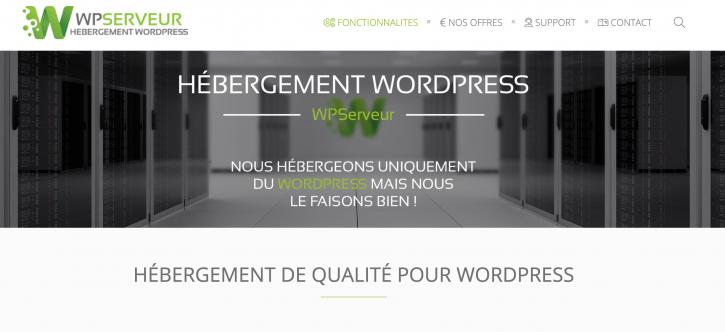 WPServeur, hébergeur de qualité WordPress