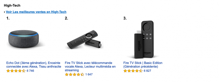 Trouver les produits les plus vendus sur Amazon