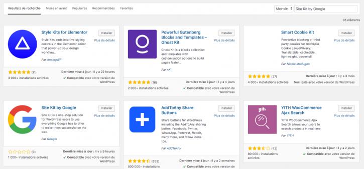 installer Google Site Kit sur WordPress